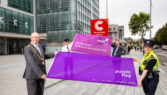 Lord Mayor Welcomes third Purple Flag Award for Cork City Centre